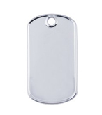 sterling silver steel dog tag