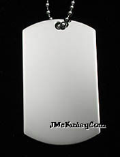 nickel plated dog tag